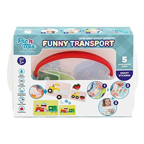 Picnmix Transporte Divertido Puzzle Vehículos Juguetes Educativos para niños 3 años a 7 años Juegos Educativos