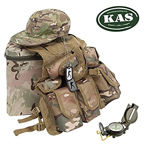 KAS Kids Army Junior Mission Set - combat vest set in mtp camouflage