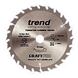Trend CSB/16524T 165 x 20 mm 24 Teeth CraftPro Saw Blade