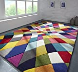 Flair Rugs Tappeto Spectrum Rhumba - Design Astratto Moderno & Dinamico - Colorato - 120x170cm
