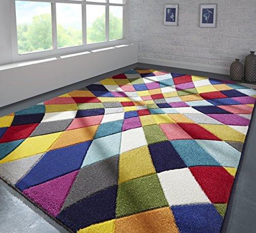 Tappeto Spectrum Rhumba - Design Astratto Moderno & Dinamico - Colorato - 80x150cm