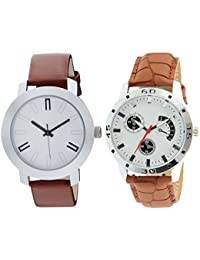 Scarter Combo Of 2 Analog Watch For Boys And Mens- S-204-211