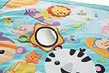 Fisher-Price – Große Spiel- und Krabbeldecke mit Tiermotiven und Babyspielzeug, 1 x 1.50 m, blau - 3