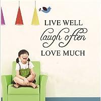 Bluelover 42x32cm vivere bene amore molto PVC Wall Sticker carta