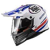 Helm LS2MX436Pioneer quaterbak weiß/rot/blau S weiß