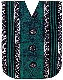 LA LEELA Donne Cotone Kaftan Tunica Batik Kimono Libero Formato Lungo Maxi Partito Caftano Vestito per Loungewear Vacanze Pigiama Spiaggia di Tutti i Giorni Coprire i Vestiti Marrone_C319