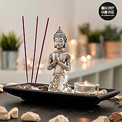 Oh My Home - Set Decorativo Buda con Vela e Incienso Oh My Home (9 piezas) - V0300425