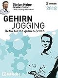 Stefan Heine: Gehirnjogging 2018 - Tagesabreißkalender, Rätselkalender, Logik und Wissen  -  11,8 x 15,9 cm