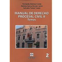 MANUAL DE DERECHO PROCESAL CIVIL II TEMAS