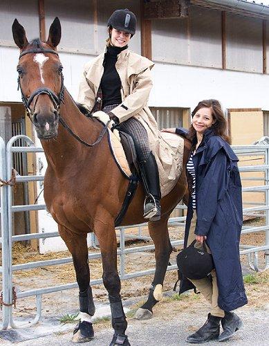 Scippis Stockman Coat Regenmantel für Cowboys Biker (Beige, L)