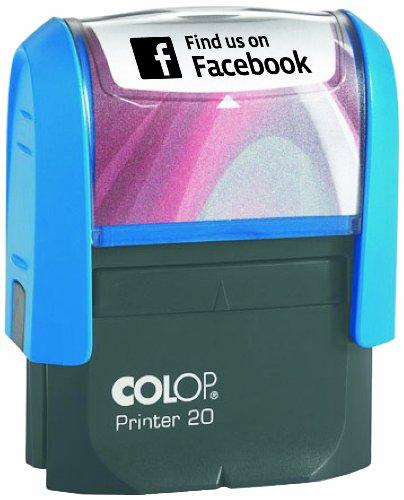 """COLOP Printer 20 Textstempel """"Find us on Facebook"""", Schwarz"""