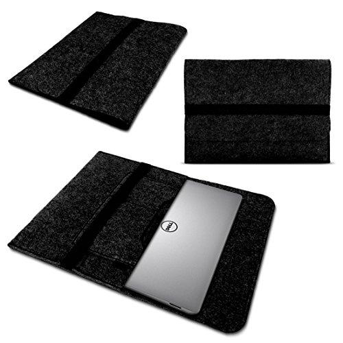 UC-Express Laptop Tasche Sleeve Hülle für Dell XPS 13 9370 9360 9365 Notebook Netbook Ultrabook Case aus strapazierfähigem Filz in Grau mit praktischen Innentaschen von NAUCI, Farbe:Dunkel Grau