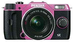 Pentax Q10 Systemkamera mit 5-15mm Objektiv (7,6 cm (3 Zoll) LCD-Display, 12,4 Megapixel Kamera, Full HD, mini HDMI, USB 2.0) lila/schwarz