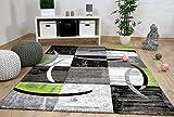 Designer Teppich Brilliant Karo Grau Grün Trend in 5 Größen