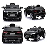 Audi Q5 Quattro SUV Elektro Kinderauto Kinderfahrzeug Ride-On 12V Kinder Elektroauto (Schwarz)