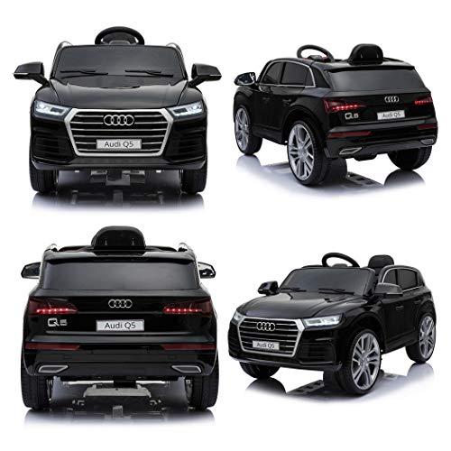 Der Neue Audi Q5 Quattro SUV Elektro Kinderauto Kinderfahrzeug Ride-On 12V Kinder Elektroauto (Schwarz)