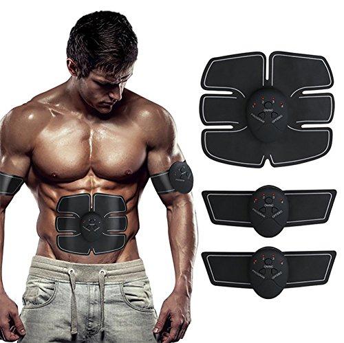 AMYB Elektrostimulation Elektrischer Muskelstimulation EMS Smart Training Gear Frauen Männer Gewicht Verlieren Körperformer Bauchmuskulatur Übung Stimulator Fitness Vibration Maschine (Vibration Training Maschine)
