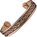 #1: Mens Women Pure Magnetic Copper Bracelet Therapy Golf Cuff Wrist Bangle to Heal Mcb18