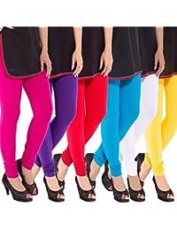 Sml Originals Comfortable & Stretchable Multi Colour Cotton Leggings (pack of 6)