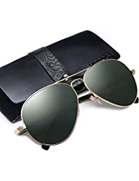 VEGOOS Hombres Aviador Gafas de Sol Polarizado Conducción Con el Caso UV 400 Protección 3025 3NXgBvnbmH