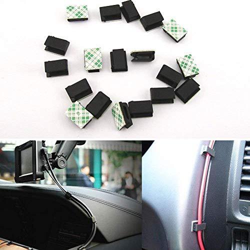 Preisvergleich Produktbild Sdkmah9 Kleber Auto Kabel-Clips Management Drop Clamp Draht Kabelbinder Halter schwarz für Zuhause Auto Büro