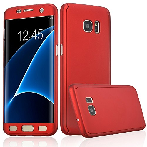 Xelcoy® 360 Degree Full Body Protection Front & Back Slim Hybrid Case Cover With Tempered Glass Protector for Samsung Galaxy Note 5 – Red