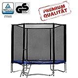 Baunsal GmbH & Co.KG Gartentrampolin Trampolin 183 bis 185 cm in blau mit Sicherheitsnetz und...