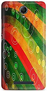 AKMOBI Designer Hard Back Case Cover For Xiaomi Redmi Note 2