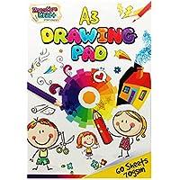 Bloc A3 para Adultos y Niños 60 Hojas para Colorear Dibujar y Escribir Cuaderno de Dibujo