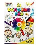 KreativeKraft® Blocco da Disegno A3 per Adulti e Bambini 60 Fogli per Colorare Scrivere Disegnare