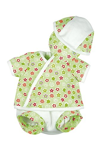 BELONIL - PREEMIE  TRAJE DE VERANO PARA MUñECA NIñO  COLOR VERDE (THE DOLL FACTORY EUROPE 08113)