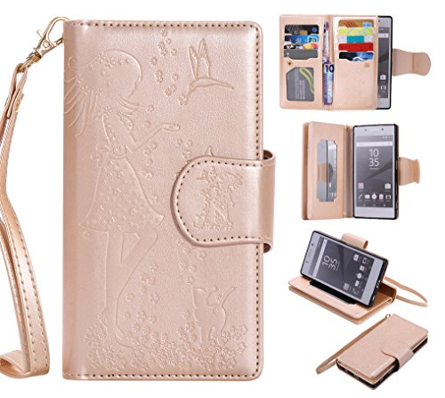 sony-xperia-z5-case-leather-cash-and-9-card-slots-cozy-hut-elegant-woman-and-cat-patterned-embossing
