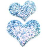 My Party Store DOT COM Cute Stylish Heart Shape Princess Hair Clips For Girls/Kids (Pack Of 2) For Durga Pooja, KANJAK, Navratri, Birthdays And Parties (Blue)