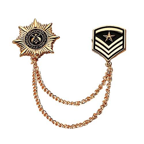 te Brosche Herren Abzeichen Kleidung Mode Abzeichen Kleidung Mode Kostüm Marine Brosche (Kunststoff Armee Männer Kostüm)