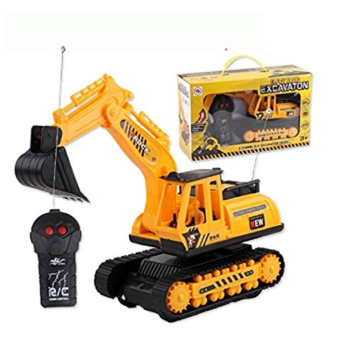 wuyiti Car Excavator Kids Toy Crawler Digger Electric 2 Channel Remote Control Toys, Games Models