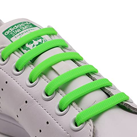 INMAKER No Tie Laces for Kids and Adults, Elastic Laces for Trainers, Silicone Tieless Flat Shoelaces for Running Shoes