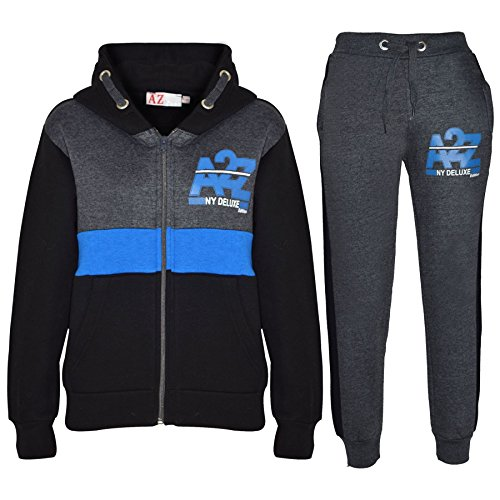 A2Z 4 Kids® Kids Tracksuit Boys Girls Designer's A2Z NY Deluxe Edition Print Hoodie & Botom Jogging Suit Joggers Age 5 6 7 8 9 10 11 12 13 Years