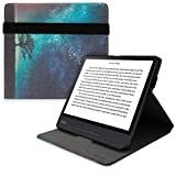 kwmobile Custodia Verticale per e-Reader per Kobo Forma - Cover con Fascia Mano e leggìo - Flip Case e-Book in Pelle PU