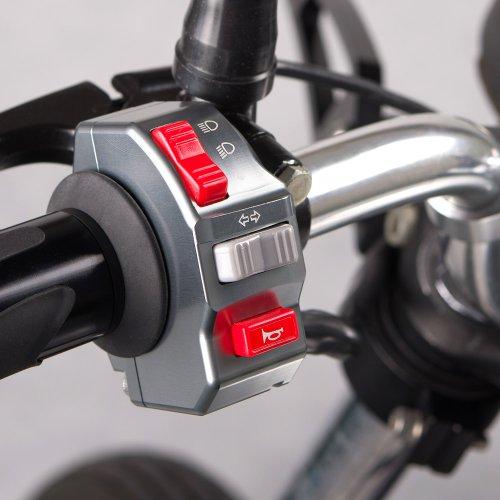 """Preisvergleich Produktbild motorrad grau control switch aluminum Motorrad Schalter turning signal light horn 12v DC 7 / 8"""" handlebar"""
