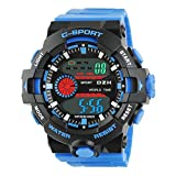 Best Digital Wristwatches - Time Wrap Blue Speed Multi Function Black Review