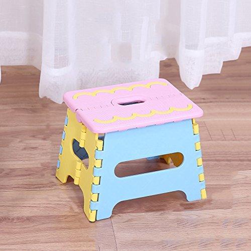 PLL Klappbarer Hocker Portable Kinder Mini Hocker mit Portable Outdoor Angeln Hocker und Verdickung Kunststoff Lagerkapazität (Color : Pink) -