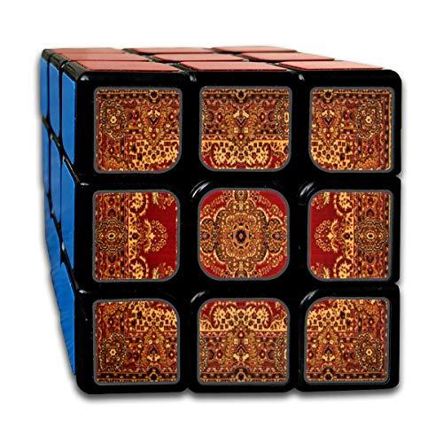 Custom 3x3 Speed Cube Los mejores juguetes de entrenamiento cerebral 3x3x3 Adorno de textura persa Patrón de mandala redondo Royal Red 3x3x3 Speed Cube Juego de fiesta para niños Niñas Niños pequ