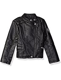 Urban Republic Big Girls' Ur Faux Leather Jacket, Black 5805AB