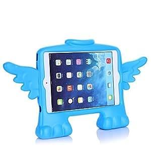 """[scimin] pour iPad Mini 3, Ipad Mini 2/iPad mini/iPad, Absorption des Chocs de protection antichocs Résistance aux impacts Cute Little Angel """"Coque antichoc en mousse Etui pour iPad Mini 3, Ipad Mini 2/iPad mini/iPad, iPad mini 1ère génération (Bleu)"""