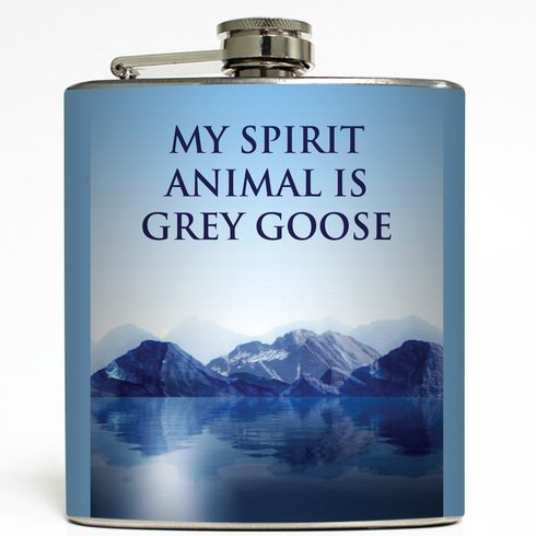 my-spirit-animal-is-grey-goose-liquid-courage-flasks-6-oz-stainless-steel-flask-by-liquid-courage-fl