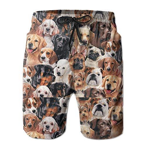 Desing shop Dog Breeds Classicl Men's Swim Trunk Medium (Golf Boys Oakley)