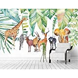 WAHAZC Große Wandbilder Seide Tapete 3D Wandgemälde Art Deco Fototapete Wind tropische Pflanze Tiersofa nahtlose Badezimmer Restaurant Bar Halle Wohnzimmer Flur Küche Büro Schlafzimmer