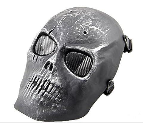 Ecloud Shop® CS field skull mask respirators movie props Battlefield Heroes silver skull mask