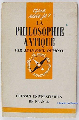La philosophie antique