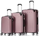 BEIBYE Hartschalen-Koffer Trolley Rollkoffer Reisekoffer Handgepäck 4...